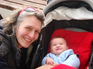 Mummy and Edward at the Queens Head, Askham 18th April (2)
