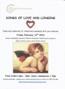 Songs of Love and Longing flyer